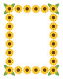 Vertical frame with flowers. Royalty Free Stock Photography