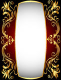 Vertical frame with gold(en) winding pattern Royalty Free Stock Images