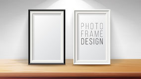 Vertical Frame Mock Up Vector. Good For Display Your Projects. High Quality Design Element Illustration. Stock Photography