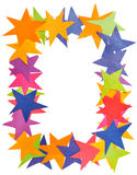 Vertical frame from paper stars Stock Image