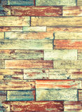 Vertical frame of psychedelic colorful brick wall background Stock Images
