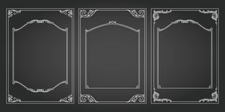 Vertical frames and borders set vector decorativ Stock Photography