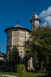 Vertical front view of Dragomirna monastery Stock Image