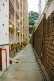 Vertical gap in public estate. Tight space in public estate in hong kong Stock Images