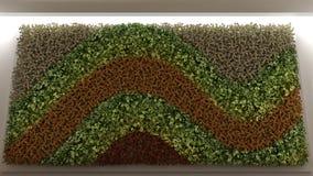 Vertical garden, interior design. 3D illustration Royalty Free Stock Photo