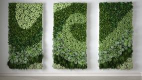 Vertical garden, interior design. 3D illustration Royalty Free Stock Photos