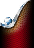 Vertical Globe Business Background Royalty Free Stock Image