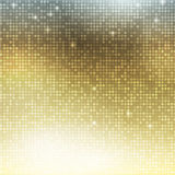 Vertical gold mosaic Stock Photography