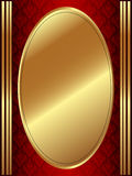 Vertical Gold Oval Frame Stock Photography