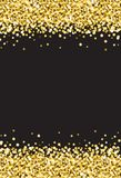 Vertical Gold Shimmer Sparkle on Black Background Vector 2 Royalty Free Stock Image