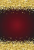 Vertical Gold Shimmer Sparkle on Burgundy Red Background Vector 1.  Royalty Free Stock Photography