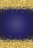 Vertical Gold Shimmer Sparkle on Royal Blue Background Vector 2.  Stock Photos