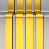 Vertical golden stripes Stock Photography