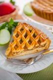 Vertical green apple tart pie cake snack dessert pastry fruitcake Stock Photo