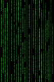 Vertical Green Binary Matrix Background Stock Photo