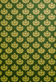 Vertical green and gold glamour pattern Royalty Free Stock Images