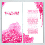 Vertical greeting card template. Silhouette of Stock Images