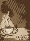 Vertical grungy coffee background Royalty Free Stock Images