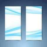 Vertical halftone gradient blue banner set Stock Photography
