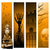 Vertical Halloween banners Stock Images