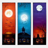 Vertical Halloween banners Royalty Free Stock Images
