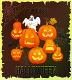Vertical Halloween grunge banners with pumpkin Royalty Free Stock Photo
