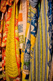 Vertical Hanging Quilts Royalty Free Stock Photos