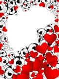 Vertical heart frame Stock Image