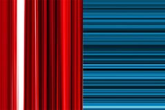 Vertical/horizontal backgrounds. Horizontal and vertical linear backgrounds. Red and blue colors stock illustration