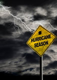Vertical Hurricane Season Sign With Stormy Background Stock Image