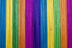 Vertical icecream wood in multi color Stock Photos