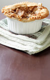 Vertical image of beef pot pie with extra copyspac Royalty Free Stock Image