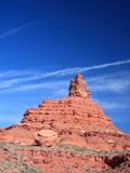 Vertical image, Boulder in the Valley of the Gods Stock Photo
