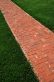 Vertical image of brick path Stock Image