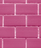 Vertical Image of Bricks Wall in Bubblegum Pink Color, Closed up for Background. Vertical Image of Bricks Wall in Bubblegum Pink Color, Closed up for Pattern Stock Image
