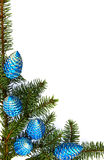 Vertical image of christmas decoration Royalty Free Stock Image