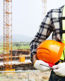 Vertical image construction safety concept Stock Images