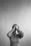Vertical image of a frustrated woman Royalty Free Stock Image