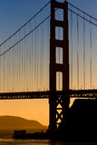 Vertical Image of the Golden Gate Bridge royalty free stock image