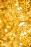 Vertical image golden lights bokeh Stock Image