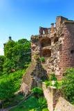 Vertical image of Heidelberg Castle. Royalty Free Stock Image