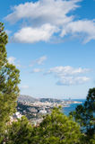 Vertical image of Malaga cityscape Stock Photos