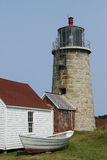Vertical Image of Monhegan Light Stock Image