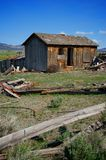 Vertical Image of An Old Wooden Shack in Utah Stock Photography