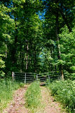 Vertical image of a rural gate Royalty Free Stock Images