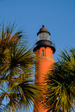 Vertical image of the tallest lighthouse in Florida and second t Royalty Free Stock Photos