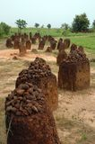 Vertical image of the Wassu stone circles Royalty Free Stock Photo