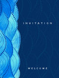 Vertical invitation card on navy blue background Royalty Free Stock Images