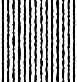 Vertical irregular, hand drawn lines. Repeatable pattern Royalty Free Stock Images
