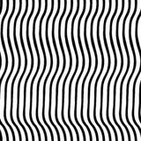Vertical irregular wavy lines black and white. Vector seamless pattern. Optical Illusion. Perfect for backgrounds. Vertical irregular wavy lines black and white stock illustration